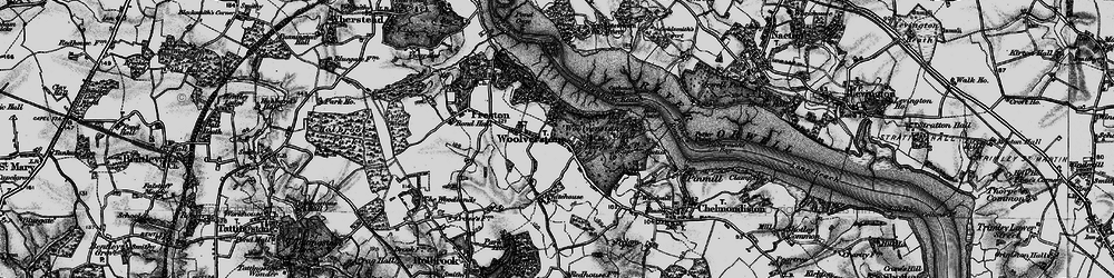 Old map of Woolverstone Park in 1896