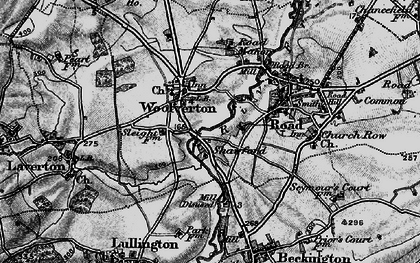 Old map of Woolverton in 1898