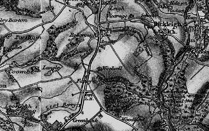 Old map of Woolwell in 1896