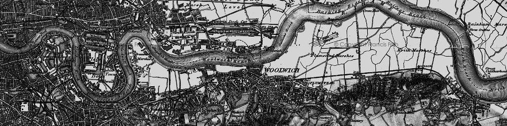 Old map of Woolwich in 1896