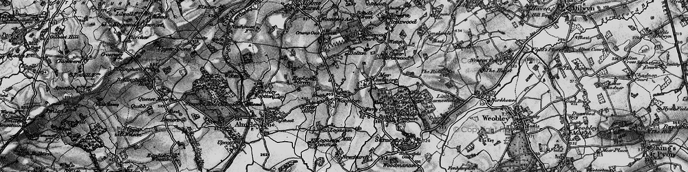 Old map of Woonton in 1898