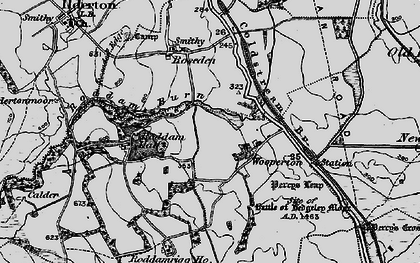 Old map of Wooperton in 1897