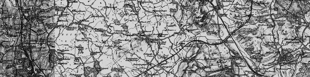 Old map of Woore in 1897