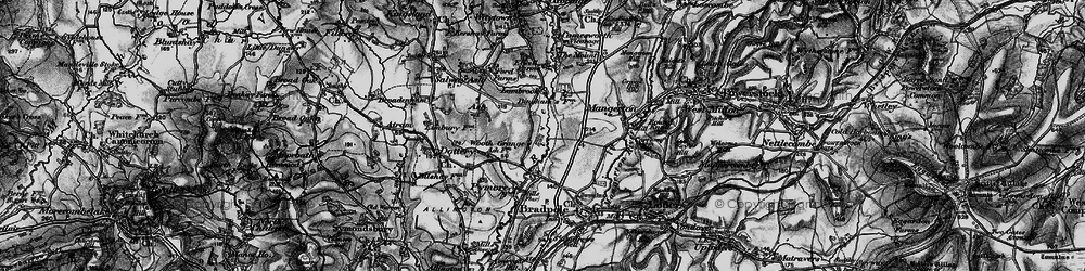 Old map of Wooth in 1898