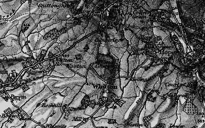 Old map of Whitton Ho in 1899