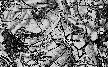 Old map of Wooton in 1899