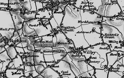 Old map of Wootten Green in 1898