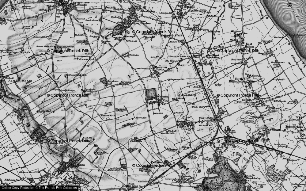 Old Map of Historic Map covering Ashdale Ho in 1895