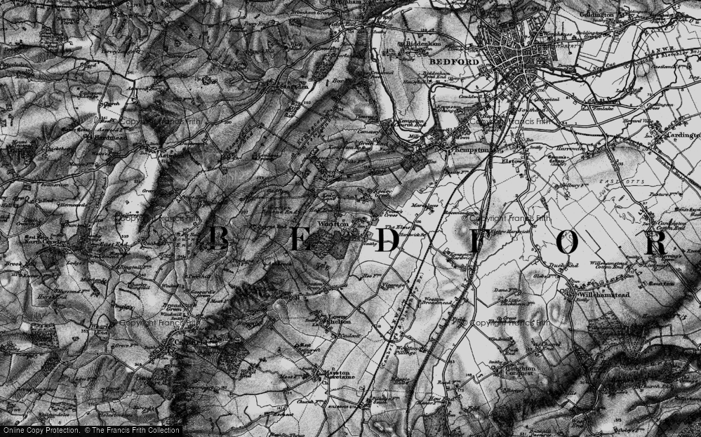 Old Map of Wootton, 1896 in 1896