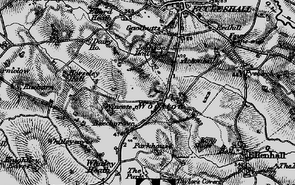 Old map of Wootton in 1897