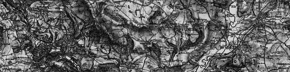Old map of Wildhay in 1897