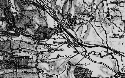 Old map of Wootton in 1899