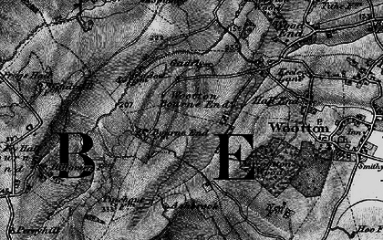 Old map of Wootton Bourne End in 1896