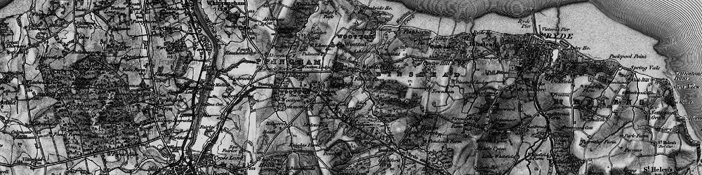Old map of Wootton Bridge in 1895