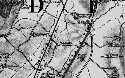 Old map of Wootton Broadmead in 1896