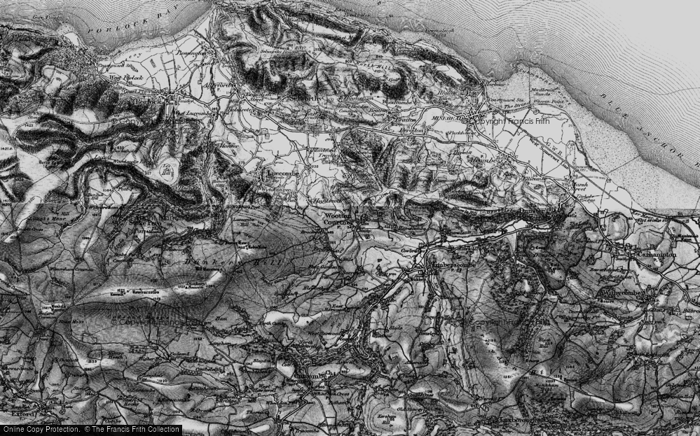 Old Map of Historic Map covering Wootton Common in 1898