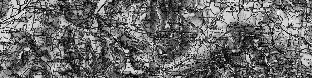 Old map of Wootton Fitzpaine in 1898