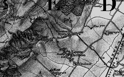 Old map of Wootton Green in 1896