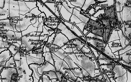 Old map of Wootton Green in 1899