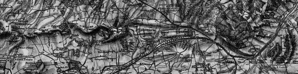 Old map of Wootton Rivers in 1898