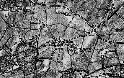 Old map of Wootton St Lawrence in 1895