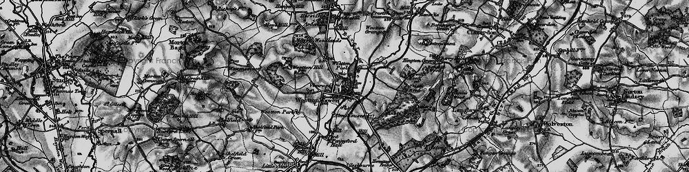 Old map of Wootton Pool in 1898