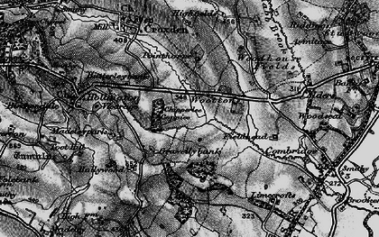Old map of Woottons in 1897