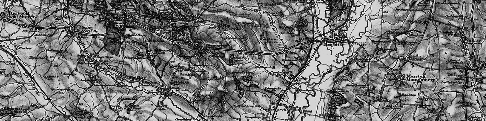 Old map of Alders in 1897