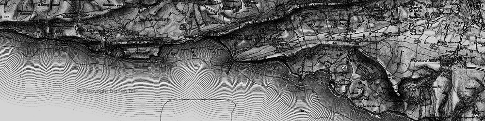 Old map of Worbarrow Bay in 1897