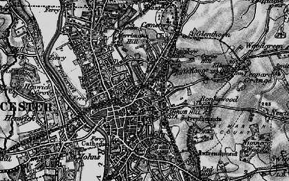 Old map of Worcester in 1898