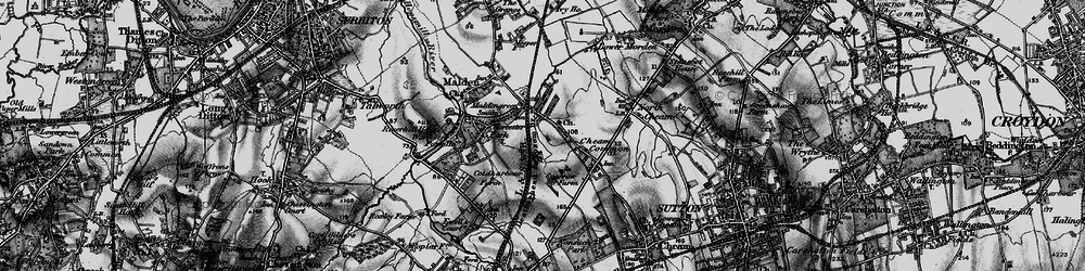 Old map of Worcester Park in 1896