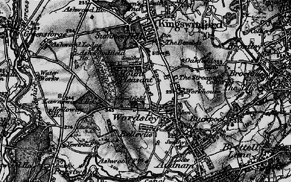 Old map of Wordsley in 1899