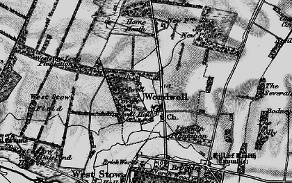 Old map of Wordwell in 1898