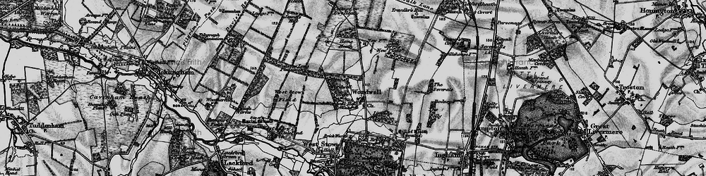 Old map of Weststow Long Plantation in 1898