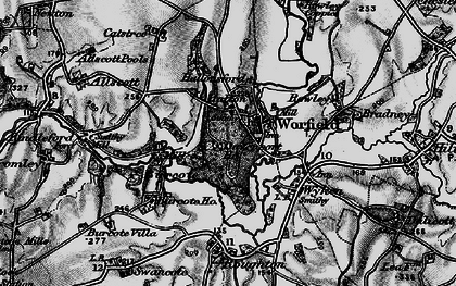 Old map of Worfield in 1899