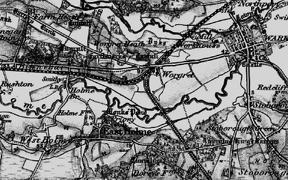 Old map of Worgret in 1895
