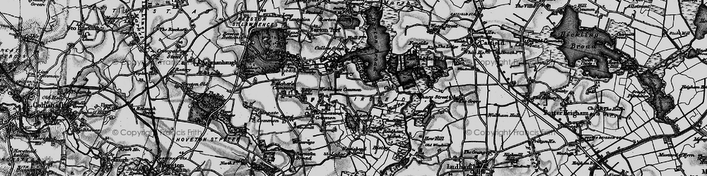 Old map of Workhouse Common in 1898