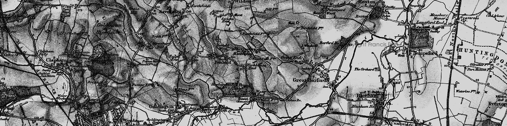 Old map of Workhouse End in 1896