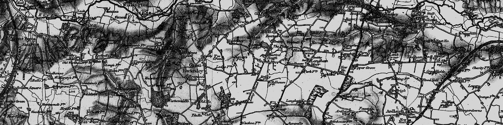Old map of Workhouse Hill in 1896
