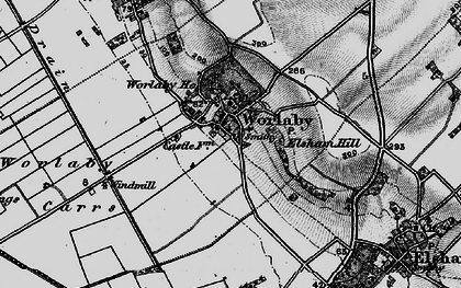 Old map of Worlaby Carrs in 1895