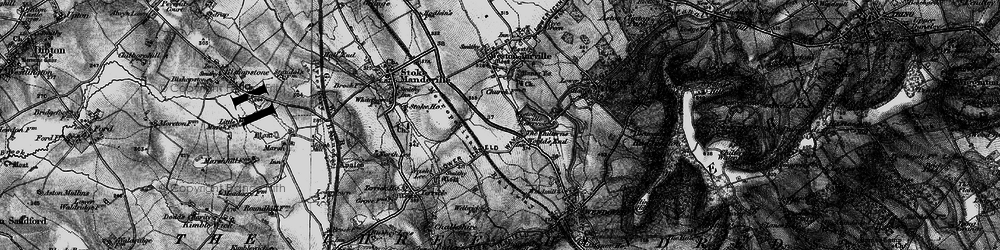 Old map of Weston Turville Resr in 1895