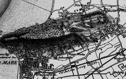 Old map of Worlebury in 1898