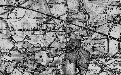 Old map of Worleston in 1897