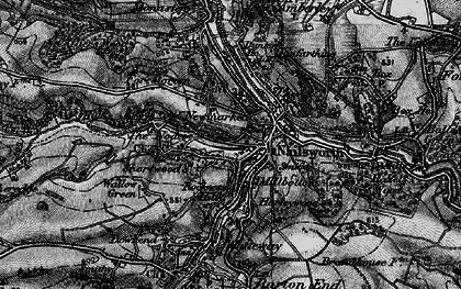 Old map of Worley in 1897