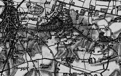 Old map of Worlingham in 1898