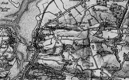 Old map of Worlington in 1895