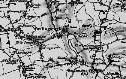 Old map of Worlingworth in 1898