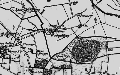 Old map of Wormegay in 1893