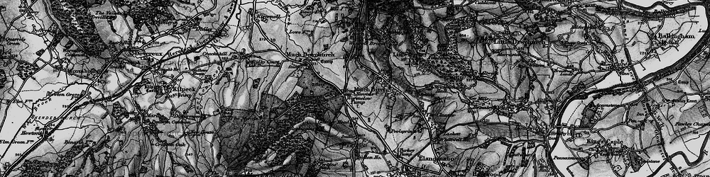 Old map of Wormelow in 1896