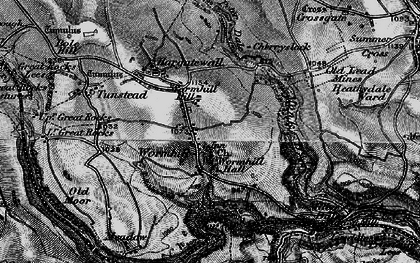 Old map of Wormhill in 1896